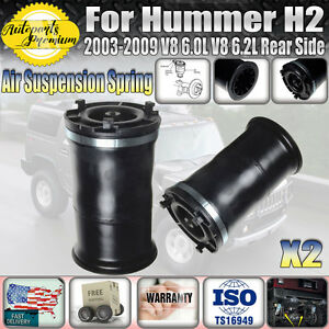 2003-2009 HUMMER H2 REAR AIR SUSPENSION SPRINGS BAGS PAIR