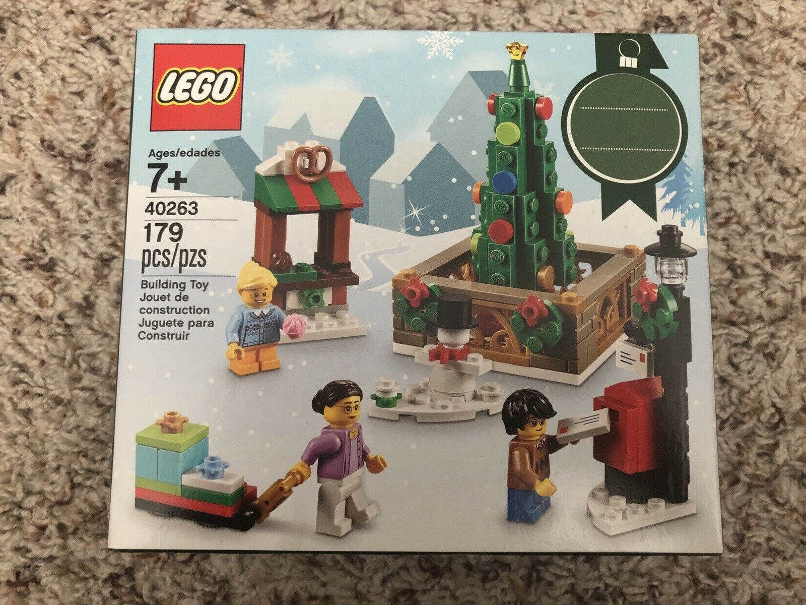 LEGO 40263 2017 Christmas Tree Town Square Limited Edition Set New Sealed