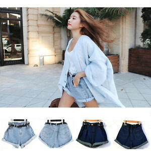 Fashion Womens Girl High Waisted Oversize Crimping Boyfriend Jeans ...