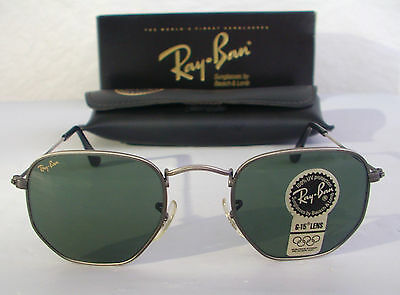 New Vintage B&L Ray Ban Classic Collection III Antique Pewter W1287 Aviator  USA