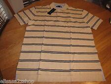 Men's Tommy Hilfiger Polo shirt stripe knit XL logo 7825572 Egyptian Sand H 268