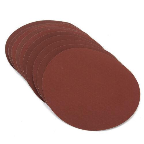 "50//100pcs 7/"" 180mm Sanding Discs Sander Pads Hook and Loop Sandpaper 60~2000Grit"