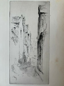 Gustave leheutre engraving water forte etching street little guy has tours