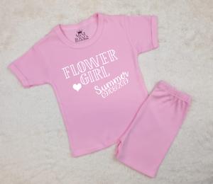 Personalised Flower Girl Pyjamas Wedding Pyjamas Girls Bridesmaid Gifts