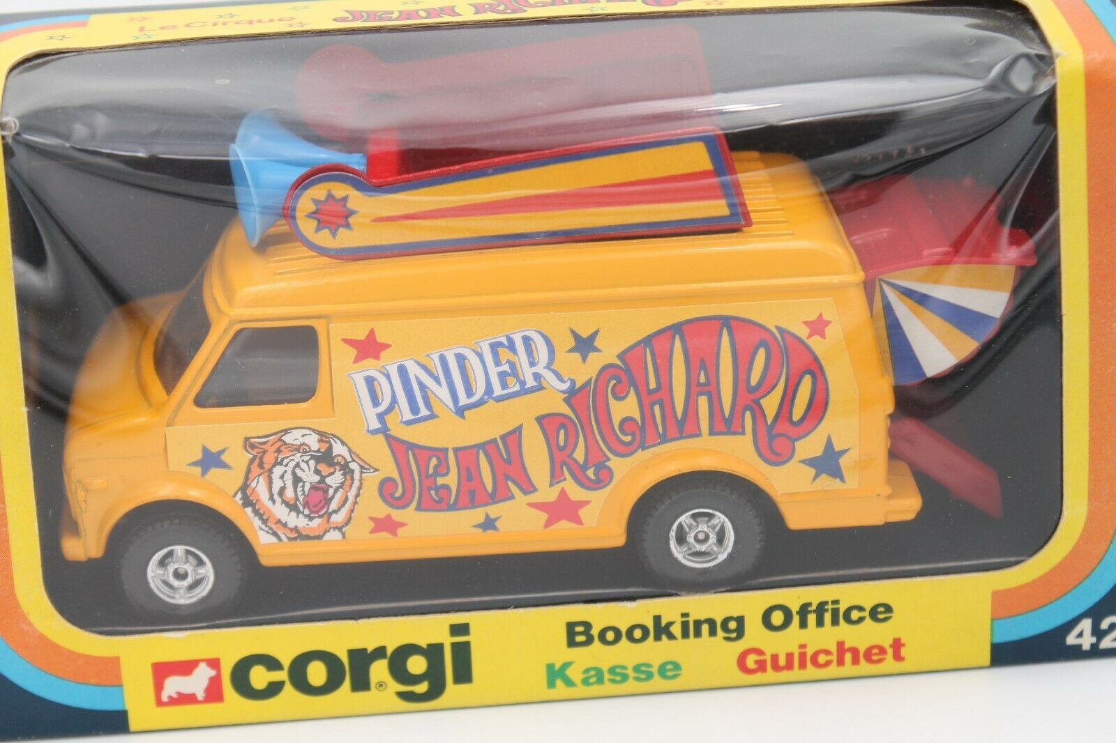 CORGI TOYS  PINDER RICHARD CIRCUS  CHEVROLET BOOKING OFFICE  OVP  MINT