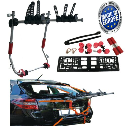 Car Boot 3 BIKE CYCLE CARRIER RACK To Fit Kia Cee/'d Niro Optima Caren Sportage