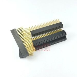 10pcs-2-54mm-2x20-40pin-Double-Row-Female-stackable-Straight-Header-socket-Strip