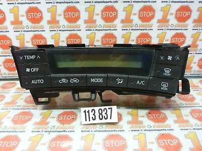 10 11 2010 2011 Toyota Prius Heater AC Climate Controls Without LED Headlamps