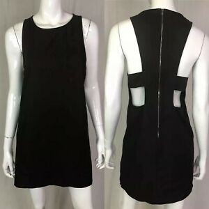 Details About 375 Kimberly Ovitz Women S 2 Black Sleeveless Open Back Shift Sheath Mini Dress