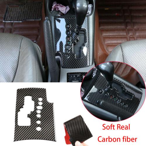 Carbon Fiber Center Console Gear Shift Box Panel Cover For Toyota RAV4 2006-2012
