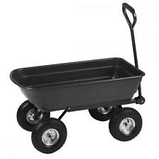 Heavy Duty Poly Garden Utility Yard Dump Cart Wheel Barrow Garden Cart T91