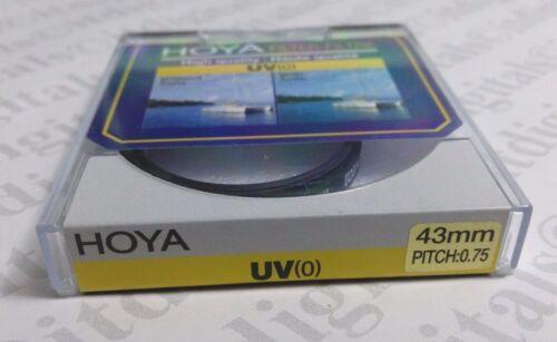 43mm Hoya Uva Objetivo Protección Seguridad Cristal Filtro Japón Recubierto 43
