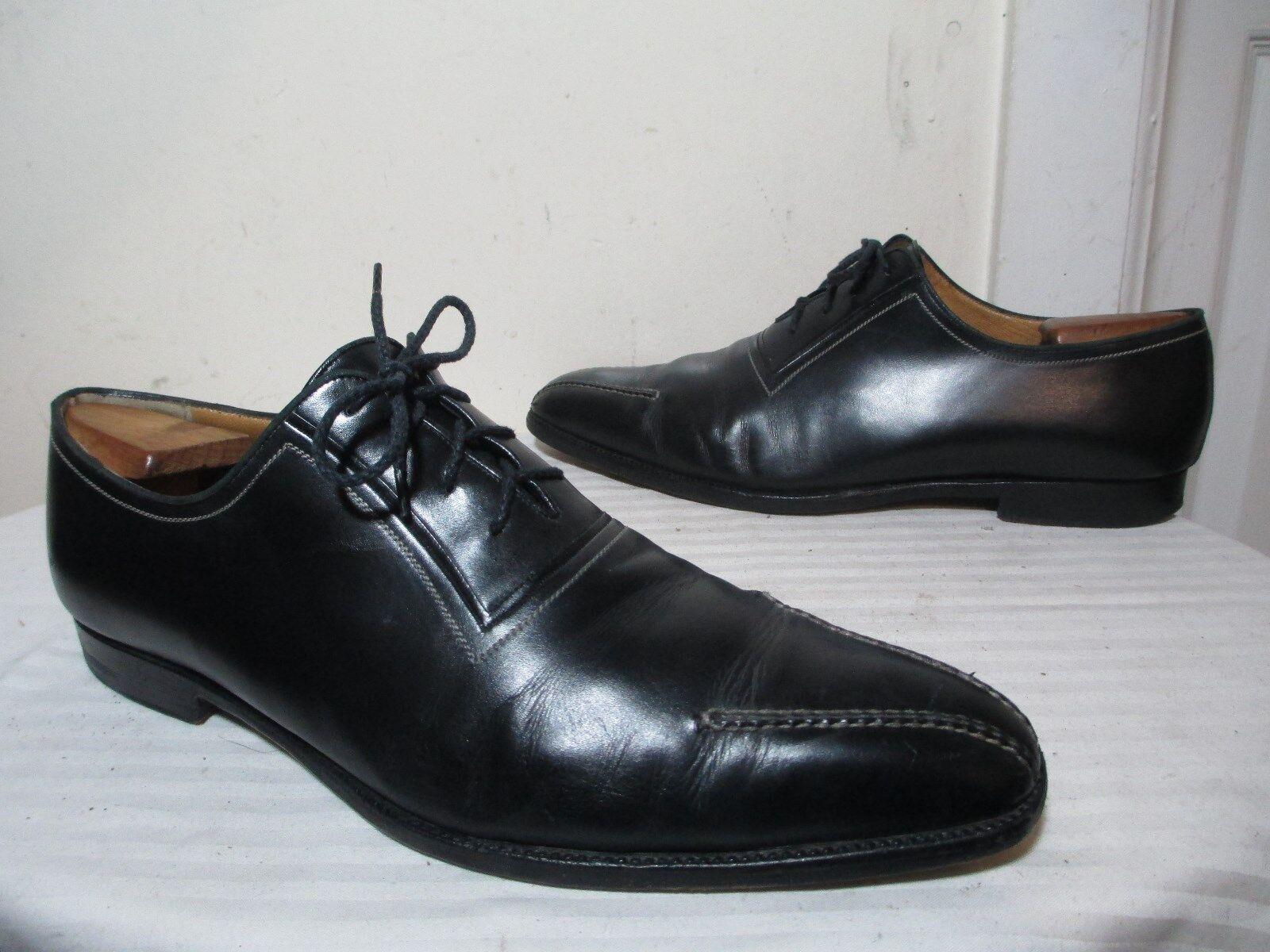 più sconto A. TESTONI MEN'S nero LEATHER LEATHER LEATHER LACE UP BICYCLE TOE DRESS scarpe SZ 11.5  RARE   design semplice e generoso
