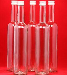 12-PCS-Empty-Wine-Clear-Glass-Bottles-Liquor-500ml-Screw-Tops-50cl-0-5-Litre-Boron