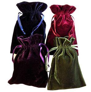 Velvet-Bags-Lot-of-4-Moss-Green-Navy-Purple-Wine-6-034-x-9-034-Tarot-Dice-Jewelry