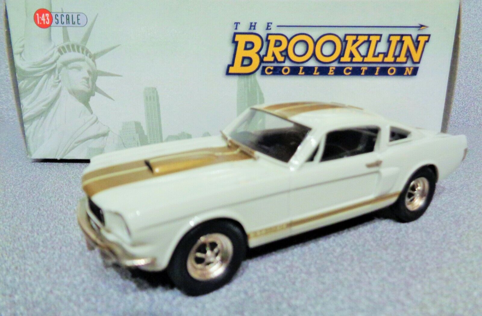 Modelo de Brooklyn 1  43 frenos 124x 1966 Ford Mustang gt350 - H  blancoo  raro ¡Modelo de Brooklyn 1  43 frenos 124x 1966 Ford Mustang gt350 - H  blancoo  raro