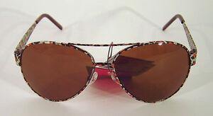 Sonnenbrille-Sunglasses-Pilot-Aviator-Sommer-UV-400-Leopard-Metall-cool-NEU