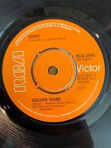 "David Bowie - Golden Years // 7"" - 1. UK-Pressing 1975"