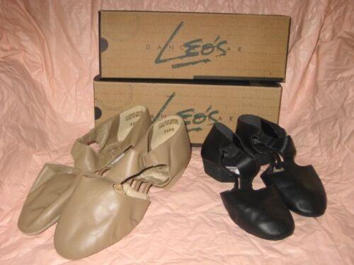 NIB LEO/'S DANCEWEAR CHILD AMORE #7208 BLACK OR #7206 TAN LEATHER JAZZ SANDAL