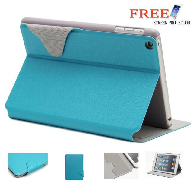Blue 2 Fold Wallet Smart Cover Case for Apple iPad mini 2 1