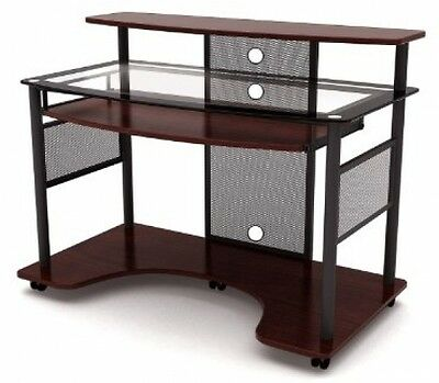 Contemporary Workstation Computer Desk Portable Home Office Furniture NEW