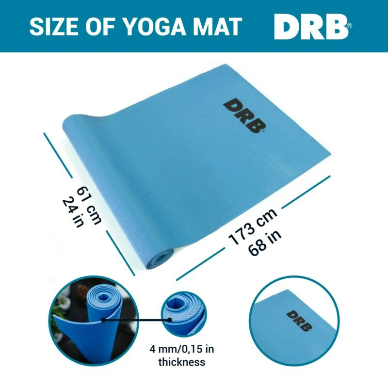 Yoga Mat - All Purpose Great Thickness Non Slip Exercise Fitness For Workouts