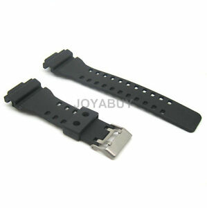 22mm pu ruber leather sports watch strap wristwatch band fits gshock