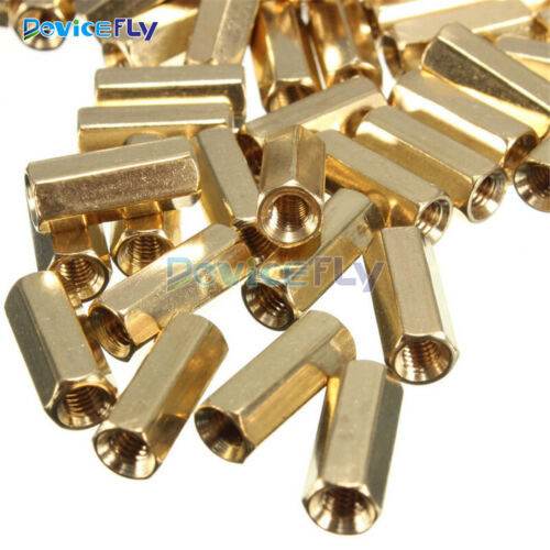 10//20//50PCS M3 12 mm Hexagonal net nut Female brass Standoff//Spacer