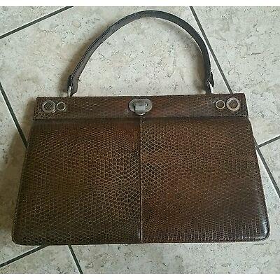 Vintage Tasche echt Leder groß braun Topzustand