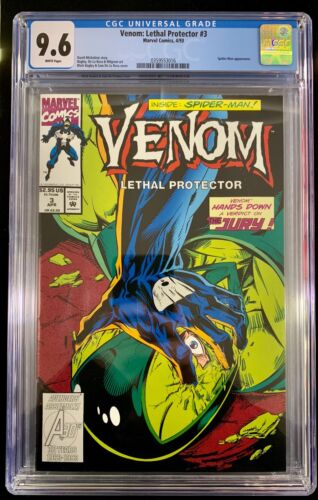 1993 Marvel Venom Lethal Protector #3 CGC 9.6 Venom Hands Down Verdict on Jury