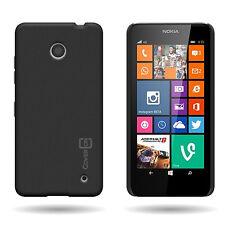 for Nokia Lumia 630 / 635 Case - Black Slim Plastic Hard Back Cover