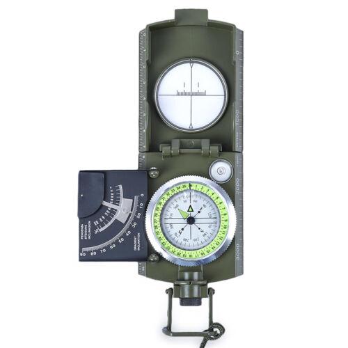 Professional Military Army Metal Sighting Compass Clinometer Camping Hiking Kits