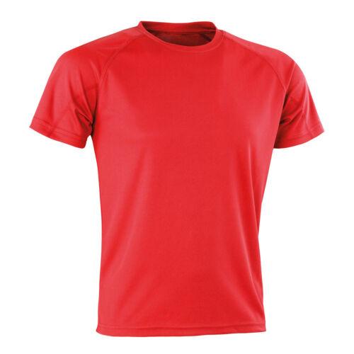 Spiro Impact Aircool Tee T-Shirt Lightweight Top Breathable Stretch S287X