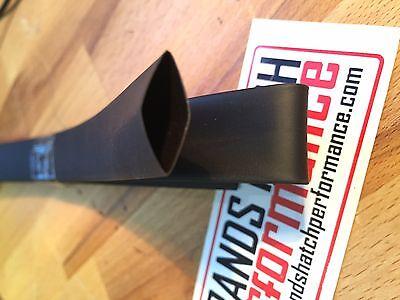 5m 6.4 mm Negro Automotriz De Alta Temperatura Cintas de termocontracción tubería 2:1 Retráctil