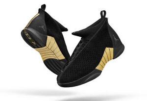 ed987a3fc57efd Nike Air Jordan Retro 15 XV size 15. DB Doernbecher Black Gold ...