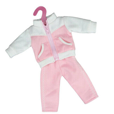 Lovely Doll Sports Clothes for 18 inch AG American Dolls Wear Accessories Pink