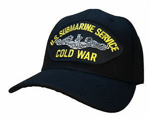 Details about Submarine Service Veteran Hat - COLD WAR Version BLACK Ball  Cap U S  Navy
