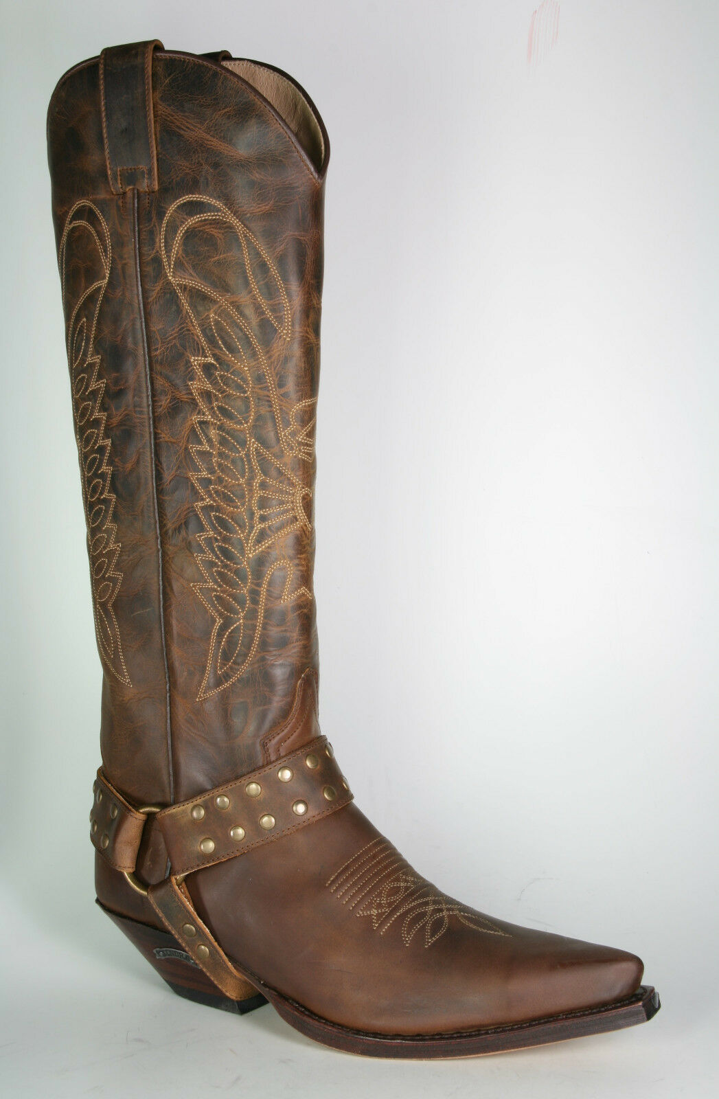 7167 sendra bottes de cowboy hochschaft Mad Dog tang Marron Cadre cousue Chaussures