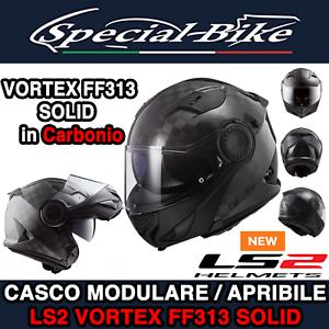 503131098//S CASCO MODULARE LS2 FF313 VORTEX SOLID CARBON OPACO MISURA S