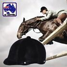 Equestrian Horse Riding Helmet Hat Cap Half Cover Safety Unisex Black OBHE23333