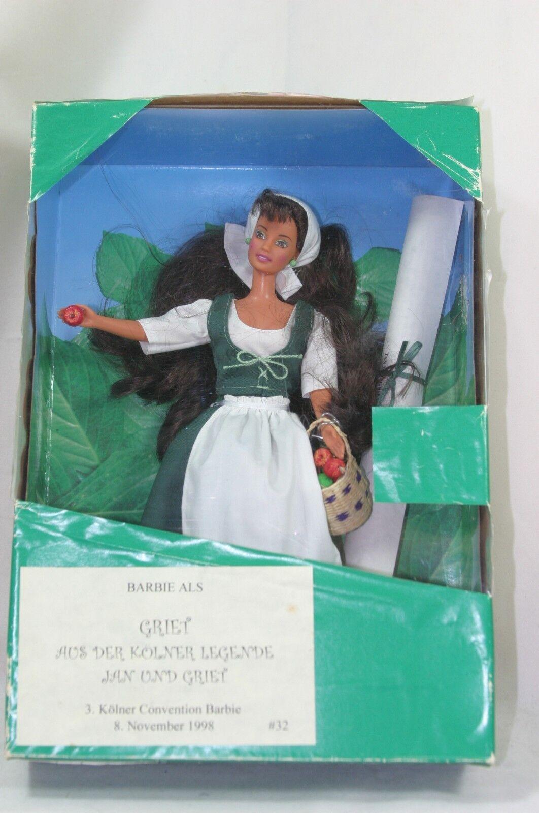 Muñeca Barbie convención Kolner colonia 1998 Alemania Hansel y Gretel nunca quitado de la Caja (2)