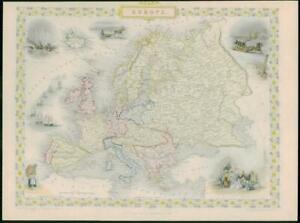 Details about 1850 - Original Antique Map of \
