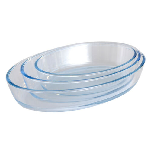 ProCook Glass Ovenware Set of 3 Oval Dishes