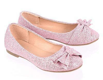 4 Color Fashion Glitter Bowknot Kids/Youth Sneakers Girls Flats Dress Shoes
