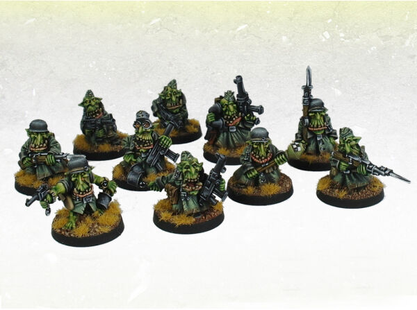 Ork War2 Orc Gred Greatcoat Iron Empire Goblin Squad (10) Kromlech Krm079