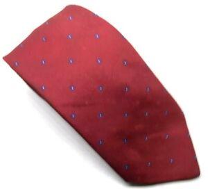 "Yves Saint Laurent YSL Herren Krawatte Rot Dot Silk Blend 3"" Breite 58"" Länge"