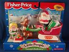 Fisher Price Little People Christmas Santa's Delivery sleigh set new