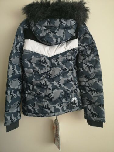 Womens Bnwt Superdry Retro Chevron Puffer Jacket Size S 10