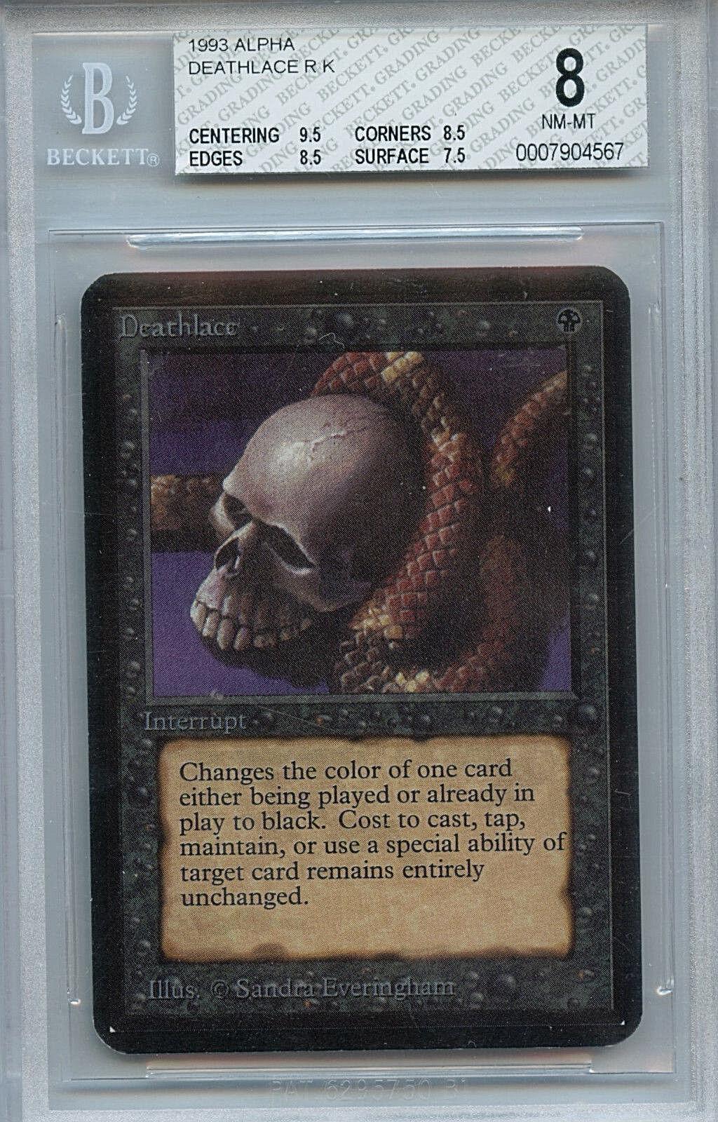 MTG Alpha Deathlace BGS 8.0 NM-MT Card Magic the Gathering WOTC 4567