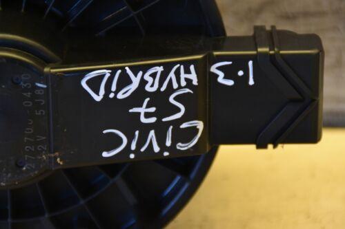 Honda Civic Fan Blower Motor CIVIC 1.3 Hybrid Saloon 2007 Front Blower Fan Motor
